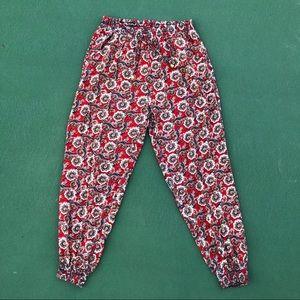 ❤️Red Paisley Harem Pants